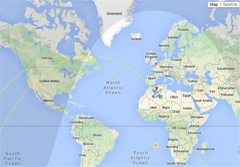 ماهواره فجر با عبور از آسمان آمریکا و کانادا وارد فضای آفریقا شد