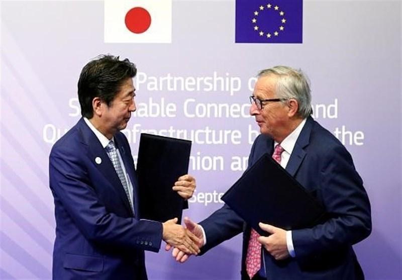 توافق ژاپن-اتحادیه اروپا در واکنش به ابتکار یک کمربند-یک جاده چین