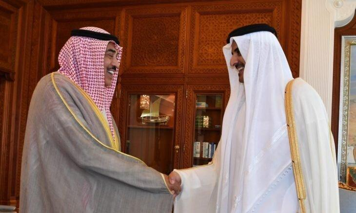 امیر کویت به امیر قطر پیغام فرستاد