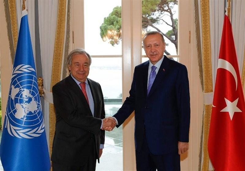 دیدار دبیر کل سازمان ملل با اردوغان در استانبول
