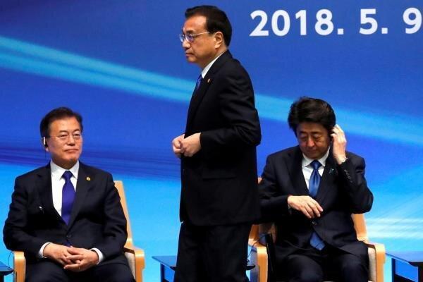 سران ژاپن، چین و کره جنوبی با یکدیگر دیدار می نمایند