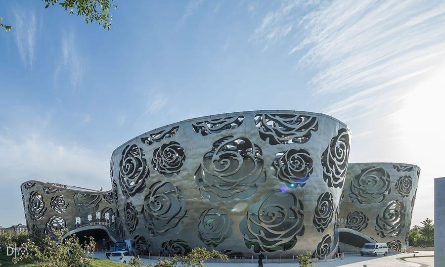 طراحی نمای اولین موزه گل رز از گروه معماری NEXT