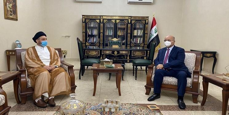 صالح و سید عمار الحکیم بر ضرورت اتحاد در دفاع از حاکمیت و امنیت عراق تاکید کردند