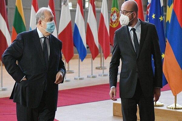 سرکیسیان با رئیس شورای اروپا ملاقات کرد، درخواست ارمنستان از ترکیه
