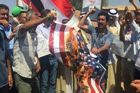تداوم تظاهرات ضد آمریکایی در دیرالزور سوریه