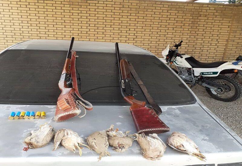 6 شکارچی غیرمجاز در گچساران دستگیر شدند