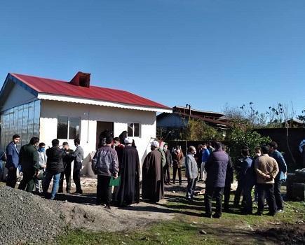 ساخت مسکن محرومین در بندرانزلی به همت دانشجویان جهادگر گیلانی