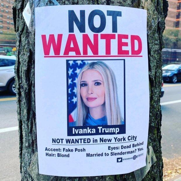 پخش پوسترهای جنجالی علیه ایوانکا ترامپ در سطح نیویورک