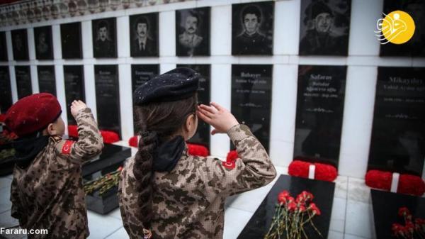 (تصاویر) گرامیداشت ژانویه خونین در آذربایجان