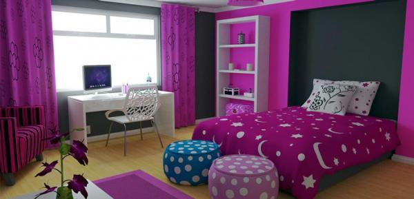 رنگ اتاق دخترانه ، چگونه می توانید یک فضای شاد برای دلبندتان ایجاد کنید!؟