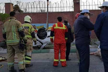 تصادف مرگبار سوزوکی با کامیون در بزرگراه آزادگان