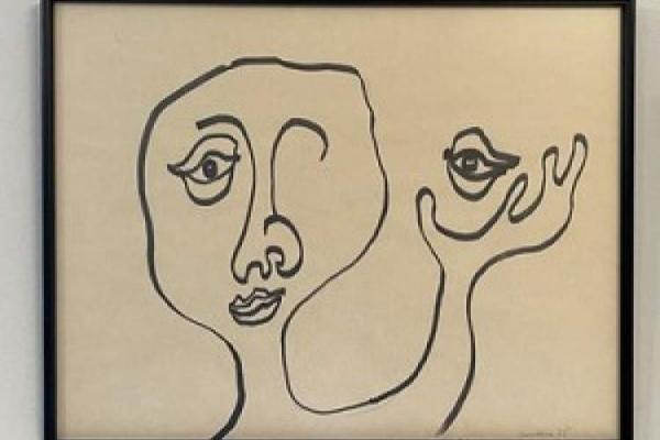 نقاشی های میلان کوندرا در نمایشگاهی در پاریس