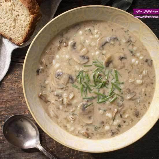 طرز تهیه سوپ جو پرک با شیر