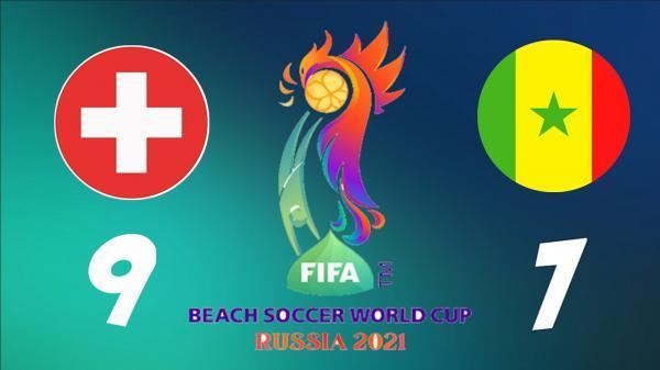 سوئیس مقام سوم مسابقات جام جهانی فوتبال ساحلی 2021 روسیه را کسب کرد